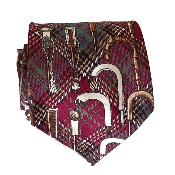 Polo by Ralph Lauren Other - Polo Tartan Plaid  Walking Stick Handle Print Tie